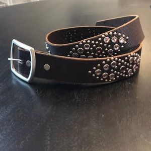 Taylor Malibu leather crystal belt